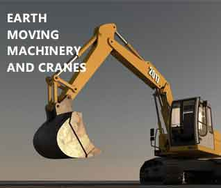 Earth Moving Machinery And Cranes