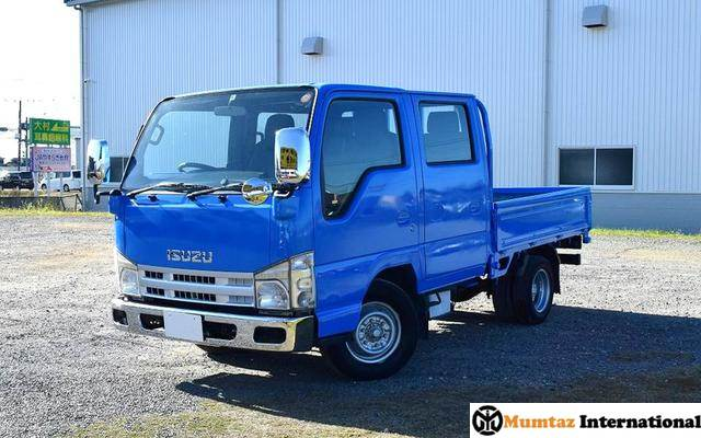 ISUZU ELF TRUCK DOUBLE CAB FLAT LOW